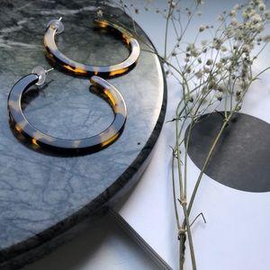 Jewelry - Resin Hoop Earrings